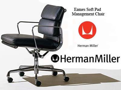 Eames Aluminum Soft Pad Group Office Task Desk Chairs by