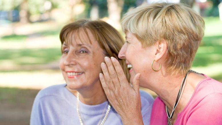 ladies whispering - funny bone