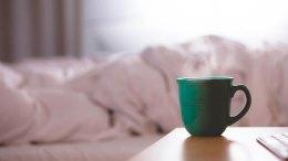 coffee cup bed bedroom