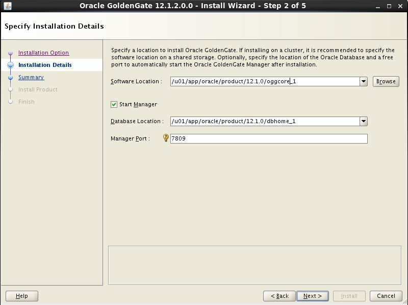 Oracle GoldenGate 12c Using Universal Installer2
