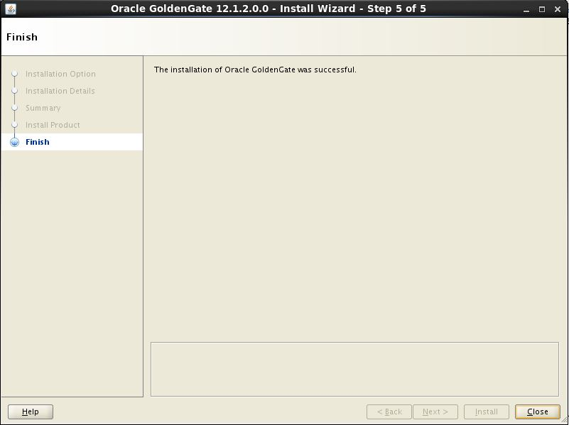 Oracle GoldenGate 12c Using Universal Installer5