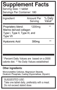 Pureclinica κολλαγόνο & υαλουρονικό συστατικά
