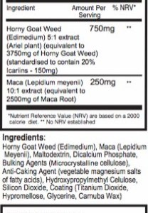 Horny Goat Weed (Epimedium) & Μάκα