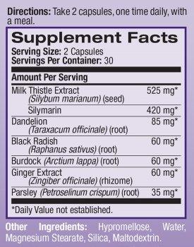 Natrol Milk Thistle ingredients