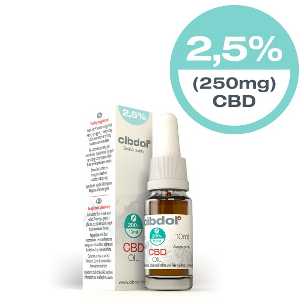Cibdol CBD Oil 2.5% x 10ml