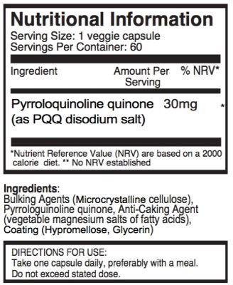 PQQ ingredients