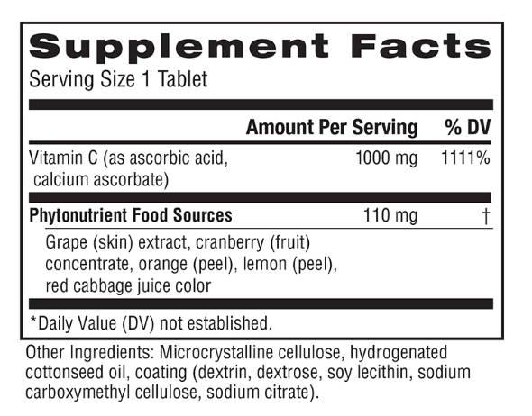 Rainbow Light Super C ingredients