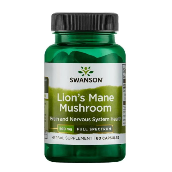 Swanson Lion's Mane Mushroom 500mg x 60