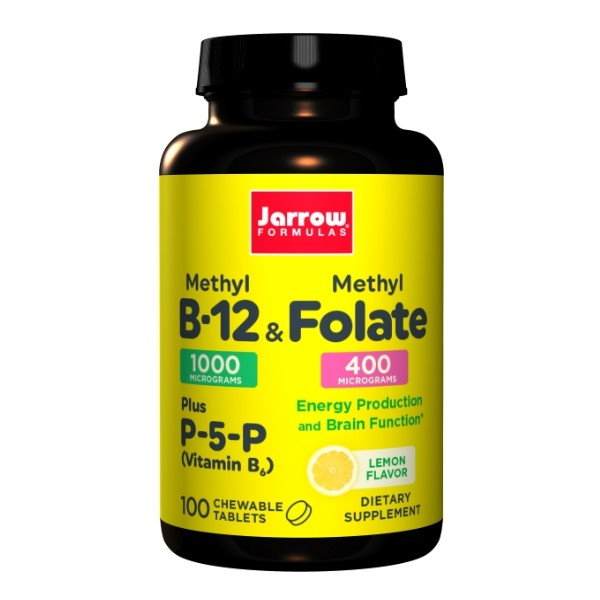 Jarrow Formulas Methyl B-12 & Methyl Folate x 100