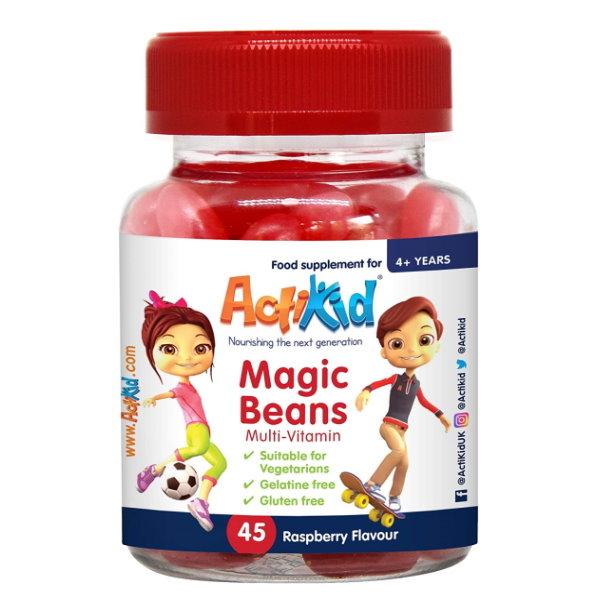 Actikid Magic Beans Multi-Vitamin Rasberry x 45