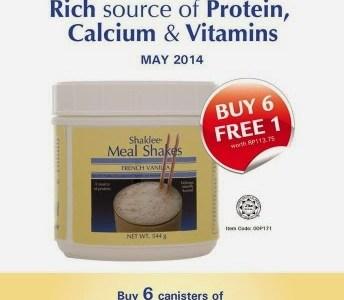 Promo Mei 2014: Meal Shakes Beli 6 PERCUMA 1