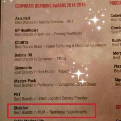 best award shaklee