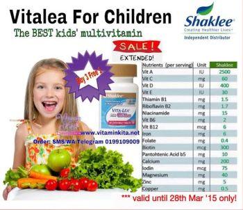 promosi shaklee chew vitalea mac 2015