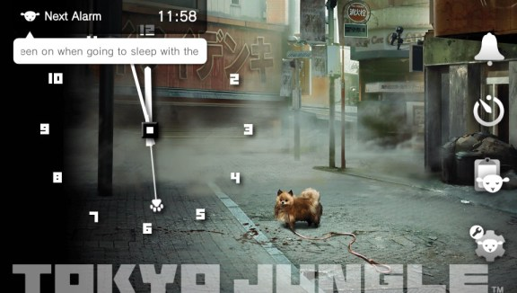 Wake-Up Club PS Vita - Clock Screen With Menu