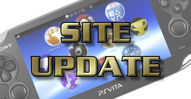 Vita Player Site Update