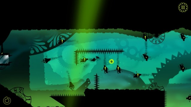 Green game screen