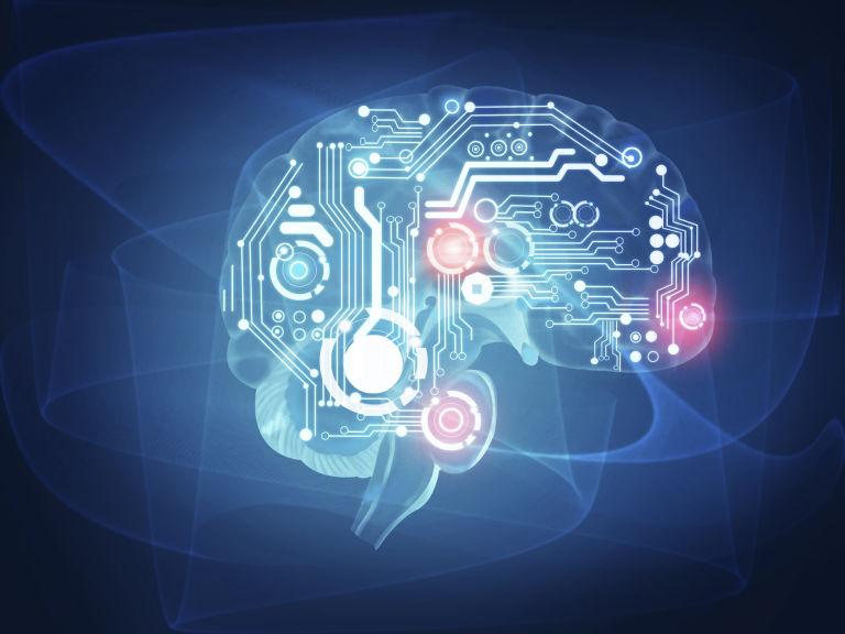 futuristic human brain