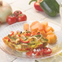 Bell Pepper and Vidalia Onion Strata with Fresh Salsa