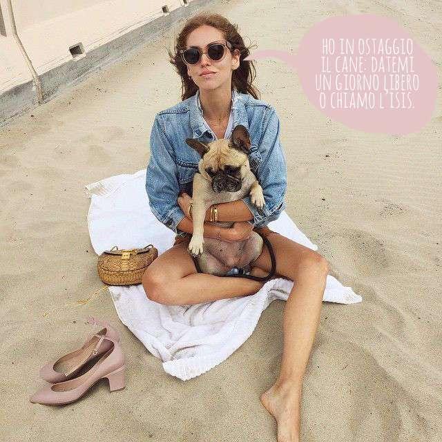 chiara e il suo cane