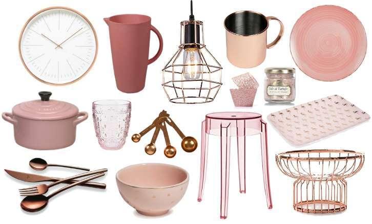 Trend Casa: accessori per la cucina rosa e rame | Vita su Marte