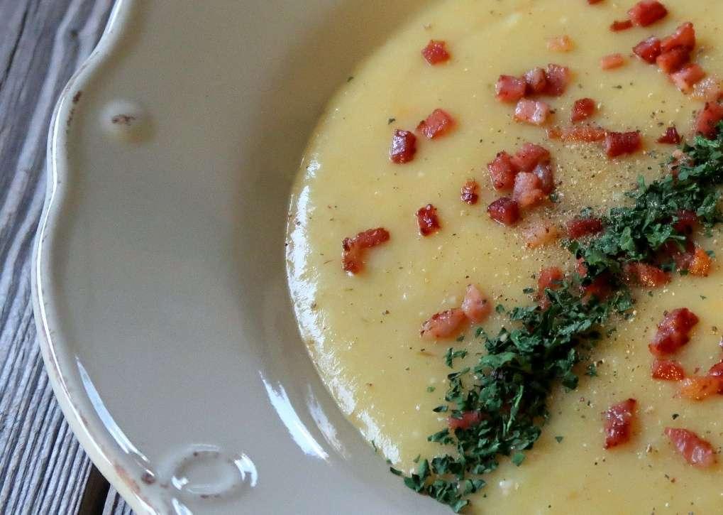 crema di patate e porri