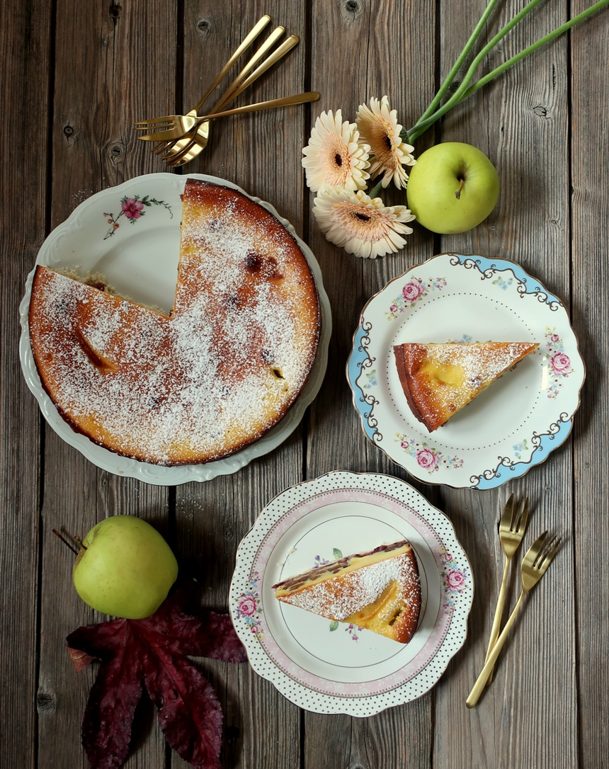 torta alla crema di formaggio e mele
