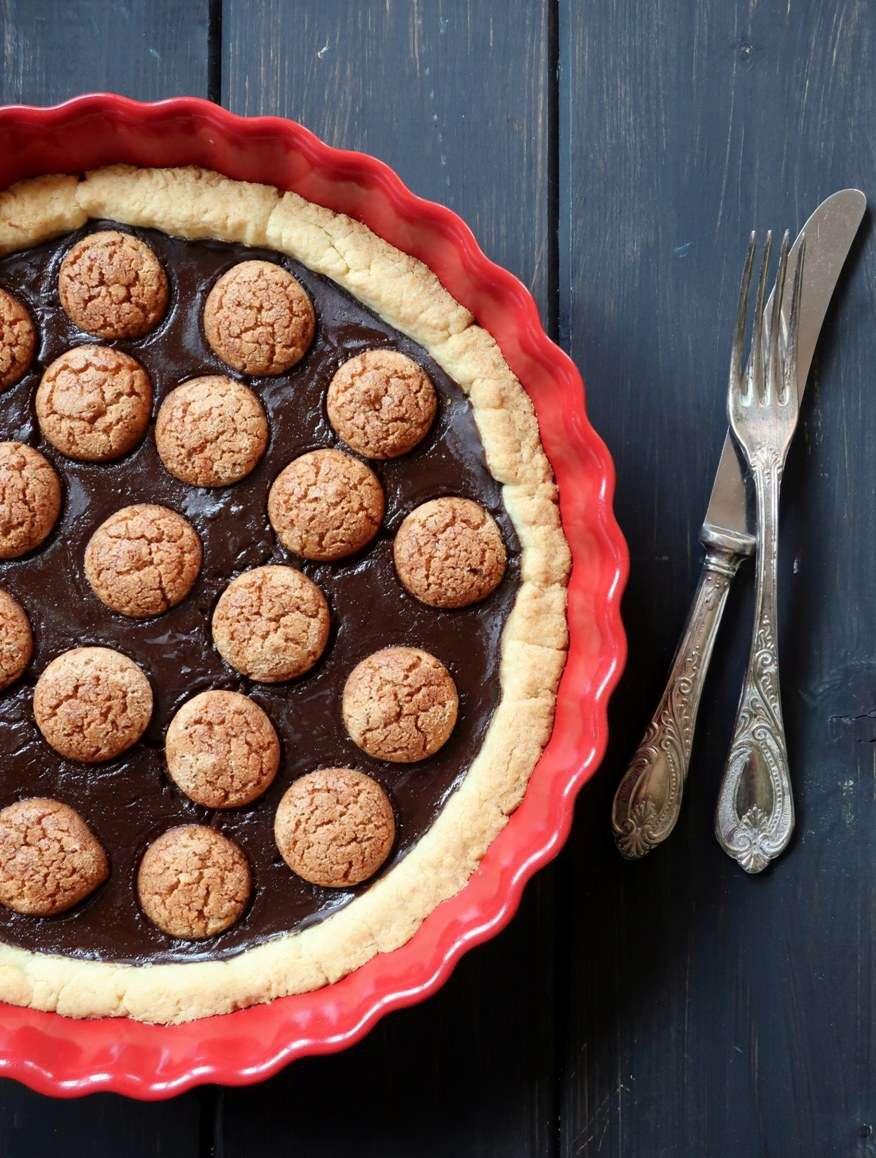 torta budino cioccolato amaretti