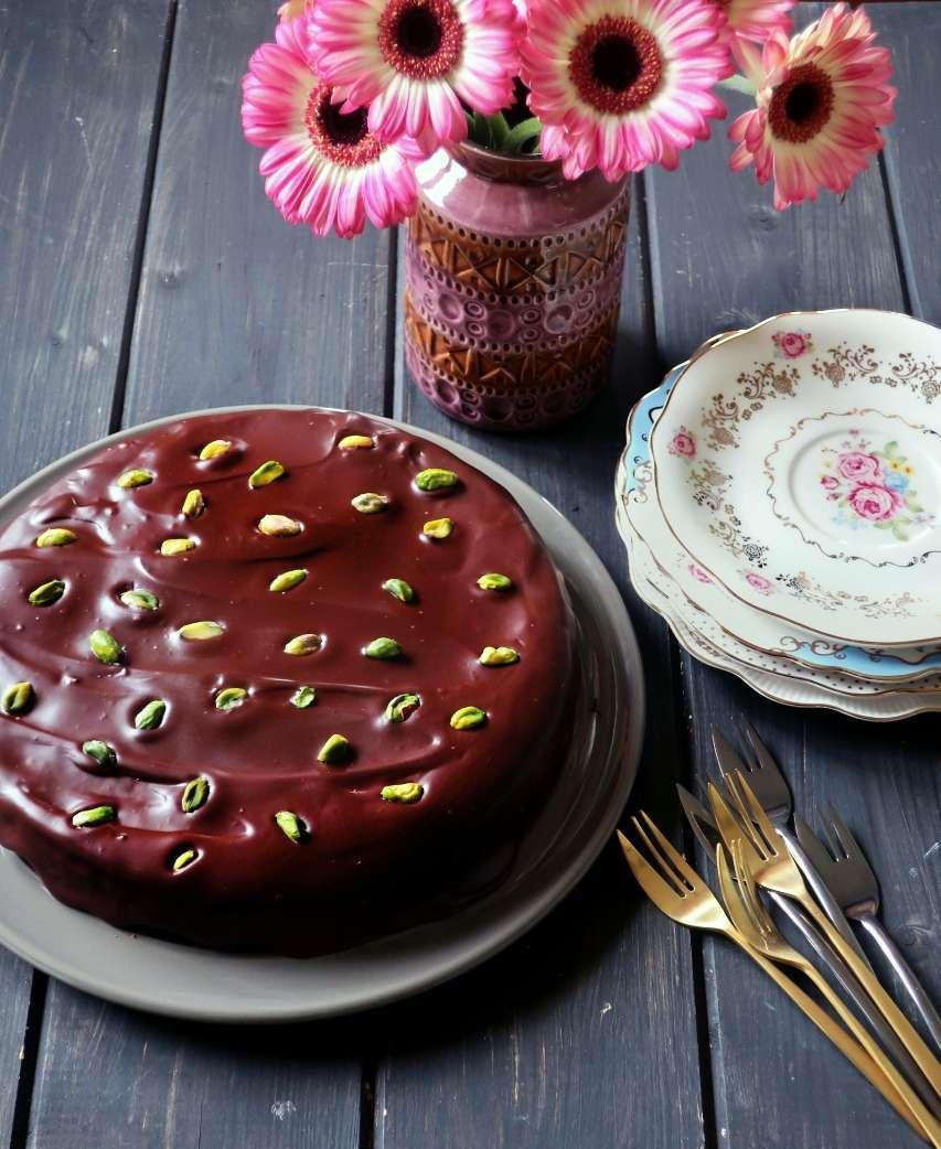 torta cioccolato pistacchi pera