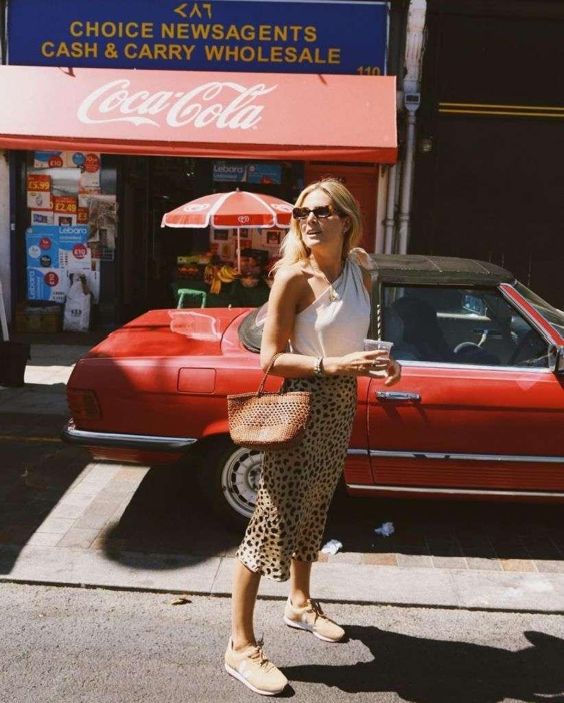 gonna midi leopardata
