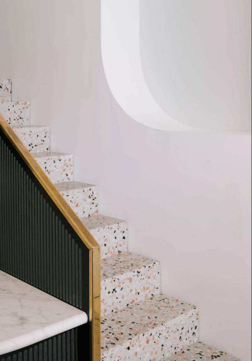 scale in graniglia di marmo