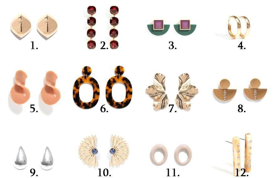 bigiotteria low cost di Parfois, gli orecchini