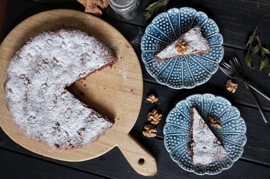 torta senza glutine alle noci