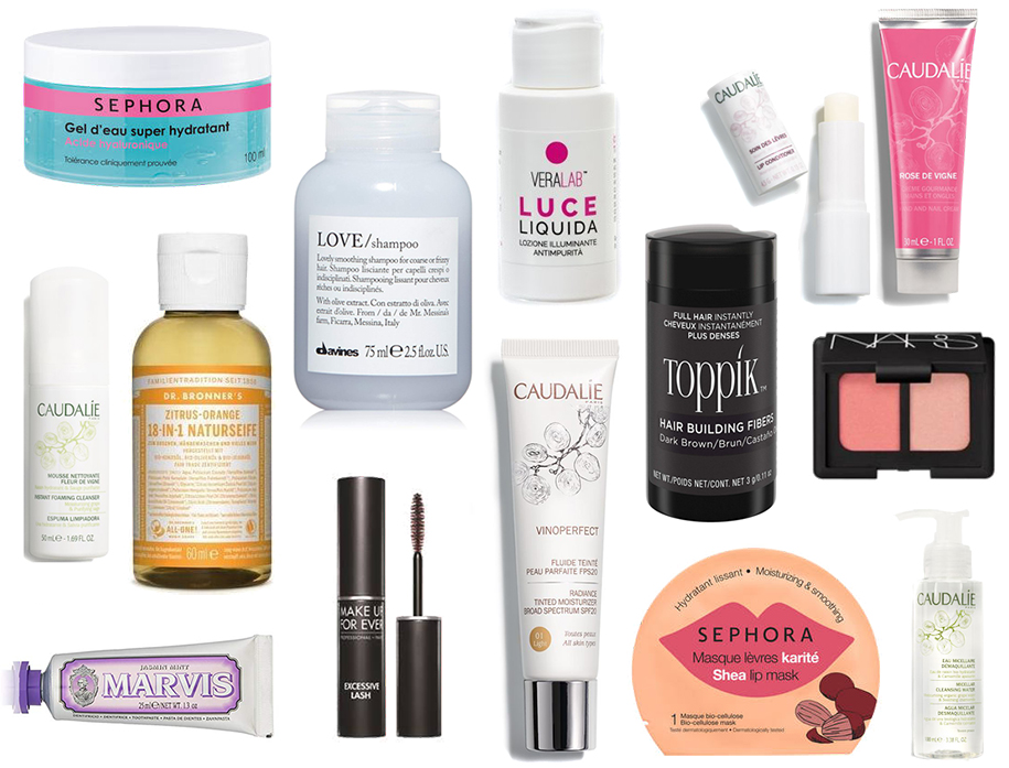 prodotti beauty travel size