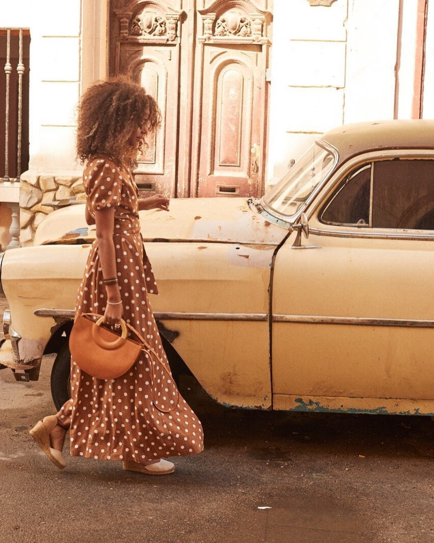la fantasia a pois maxi dress