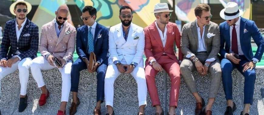 Uomini con la giacca al Pitti di Firenze