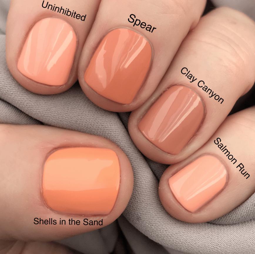 smalto arancione colori cnd shellac