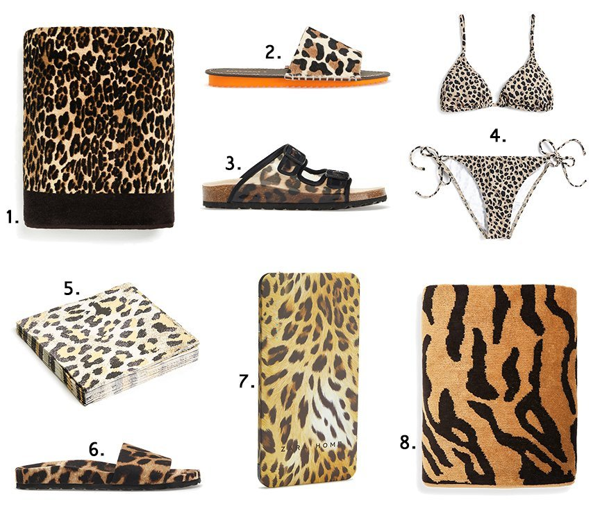 summer animalier shopping collage