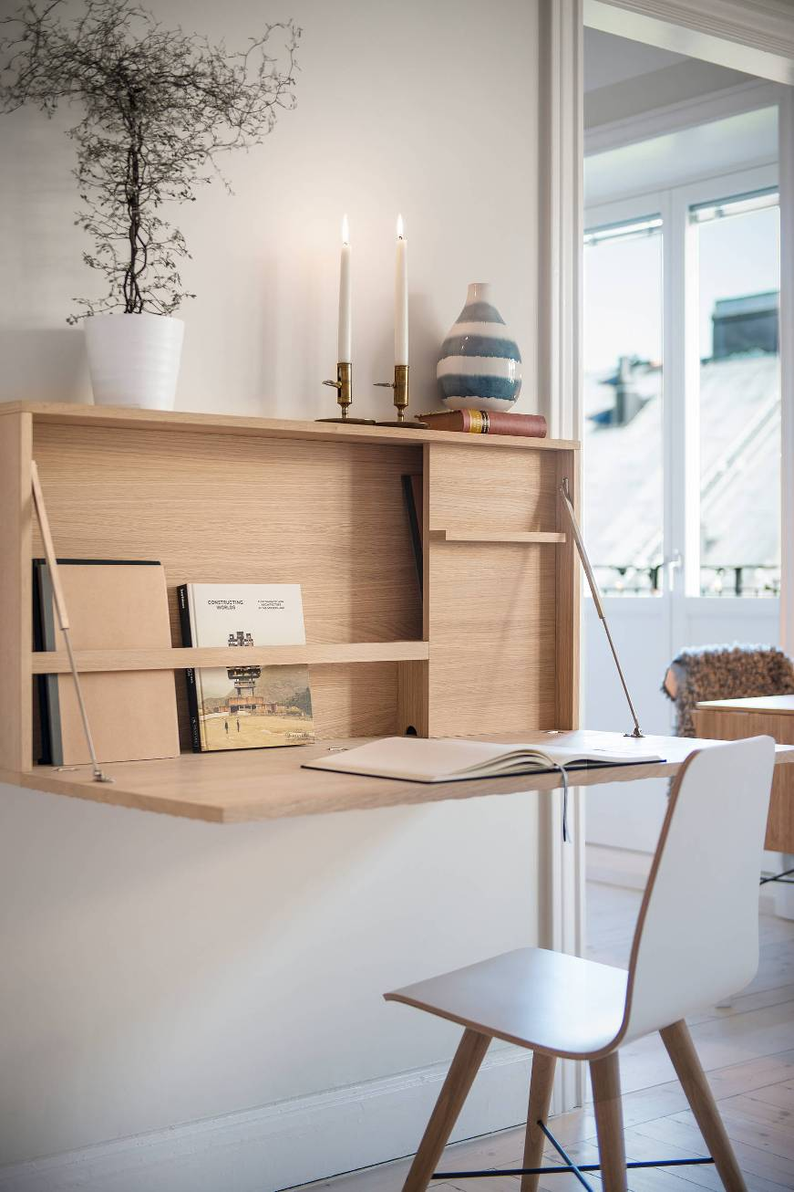 scrivania a ribalta richiudibile