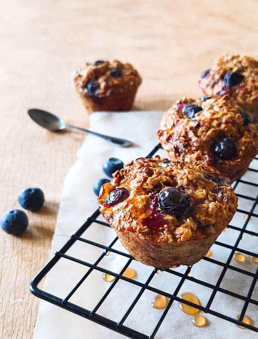 muffins banana mirtilli senza zucchero