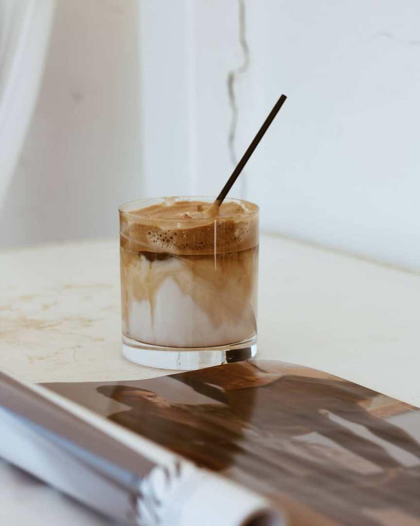 schiuma di caffè e latte