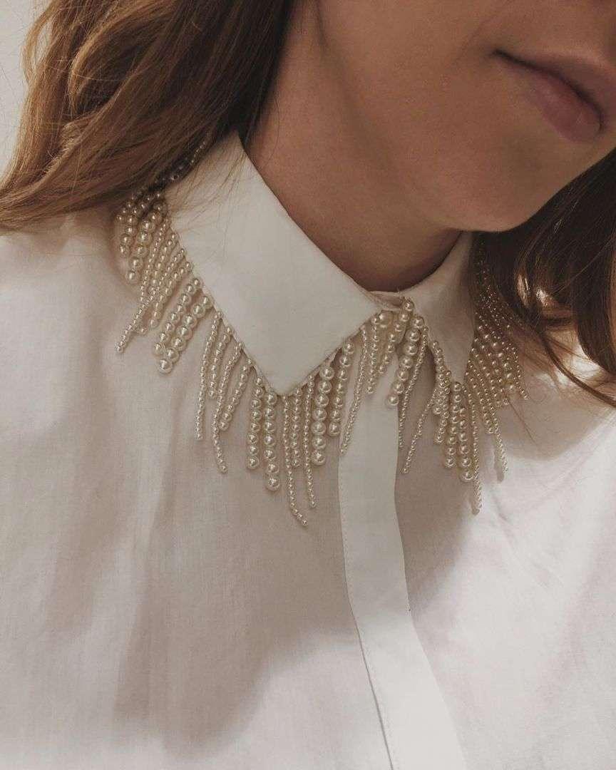 colletto con perline