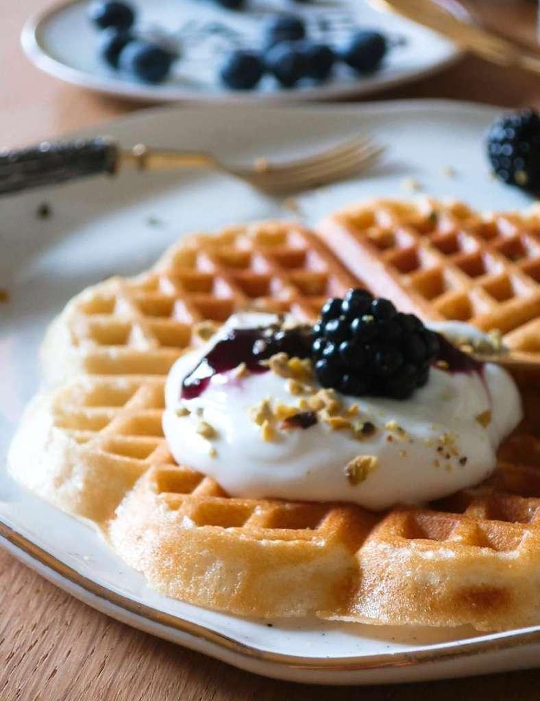 ricette waffle colazione lenta