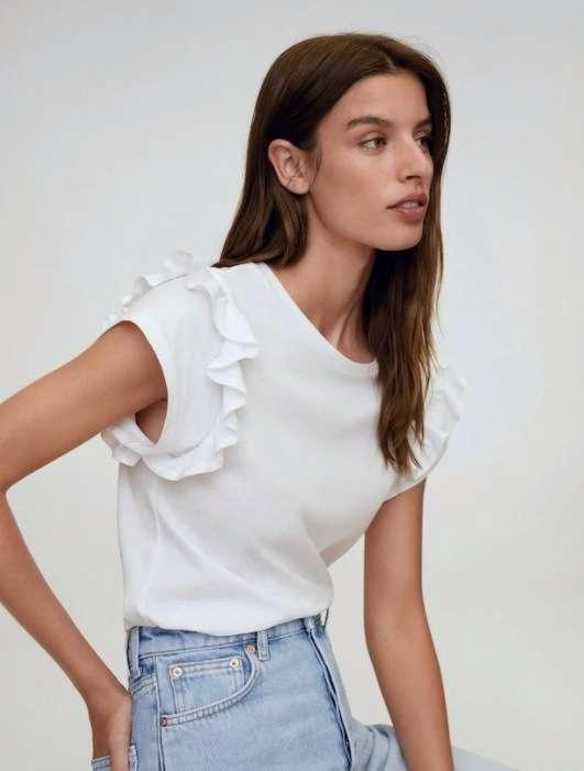 maglietta bianca - outfit mango