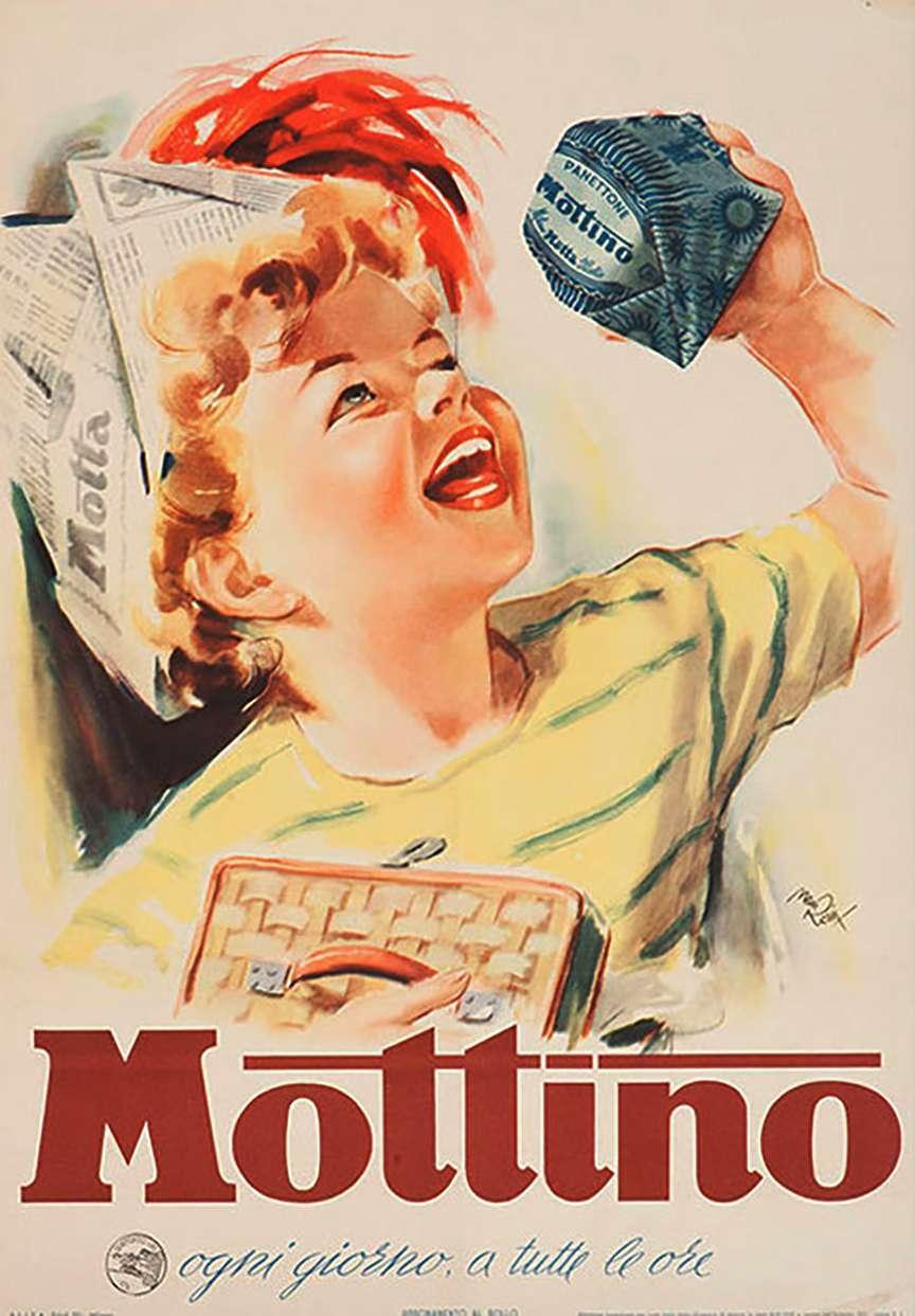 poster vintage merenda per bambini