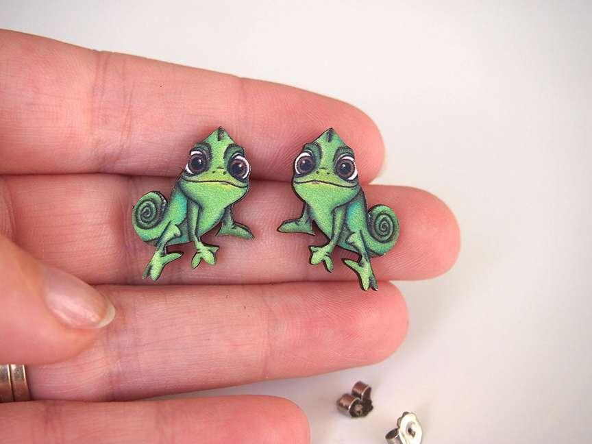originali orecchini camaleonte su negozi Etsy