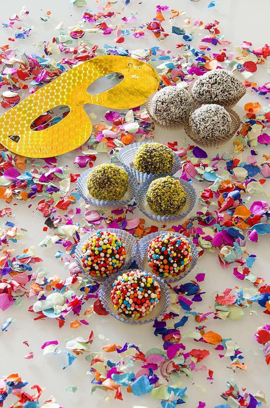 Coriandoli di carnevale al cioccolato