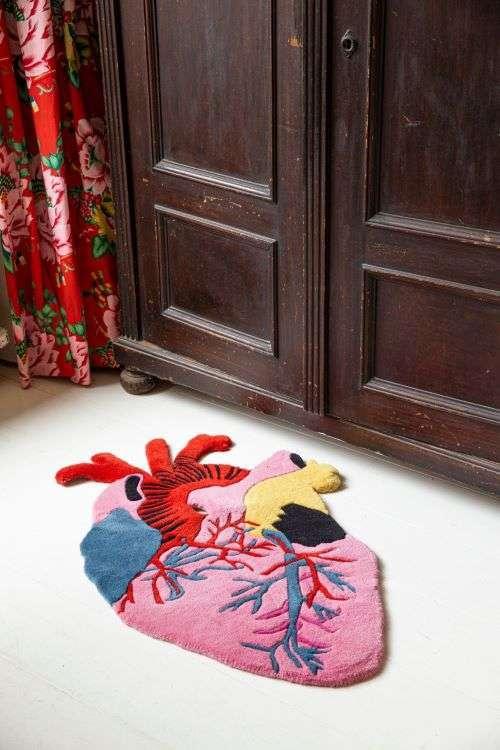 tappeti originali cuore