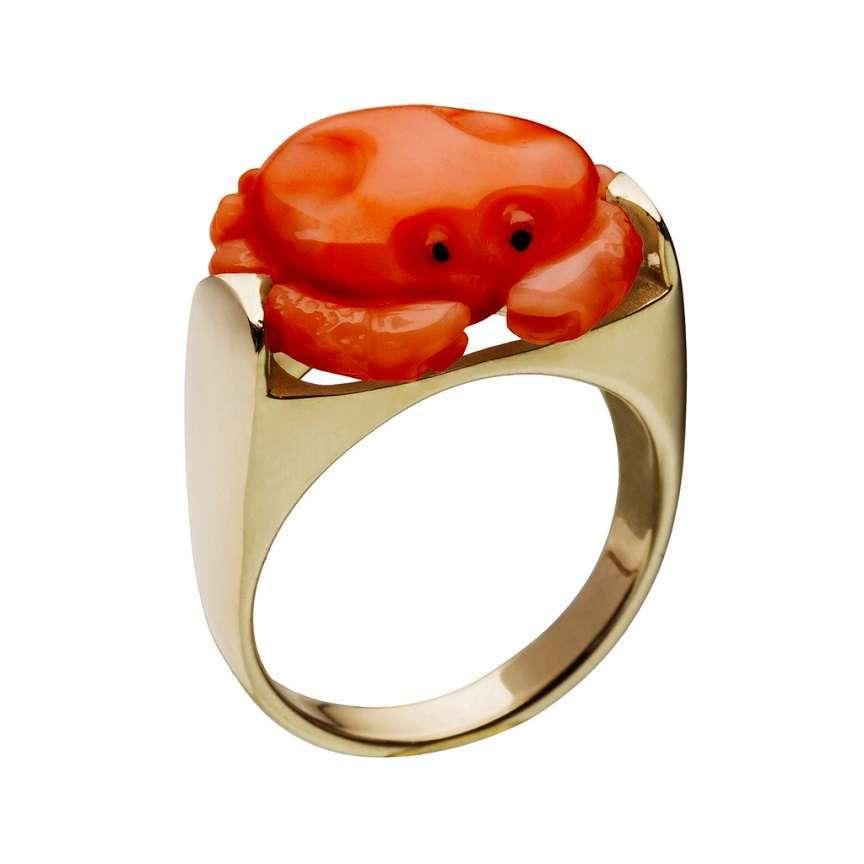 anello con granchio