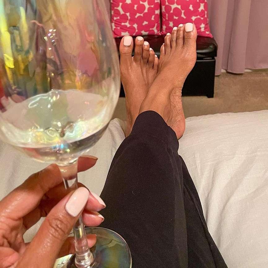 pedicure e champagne