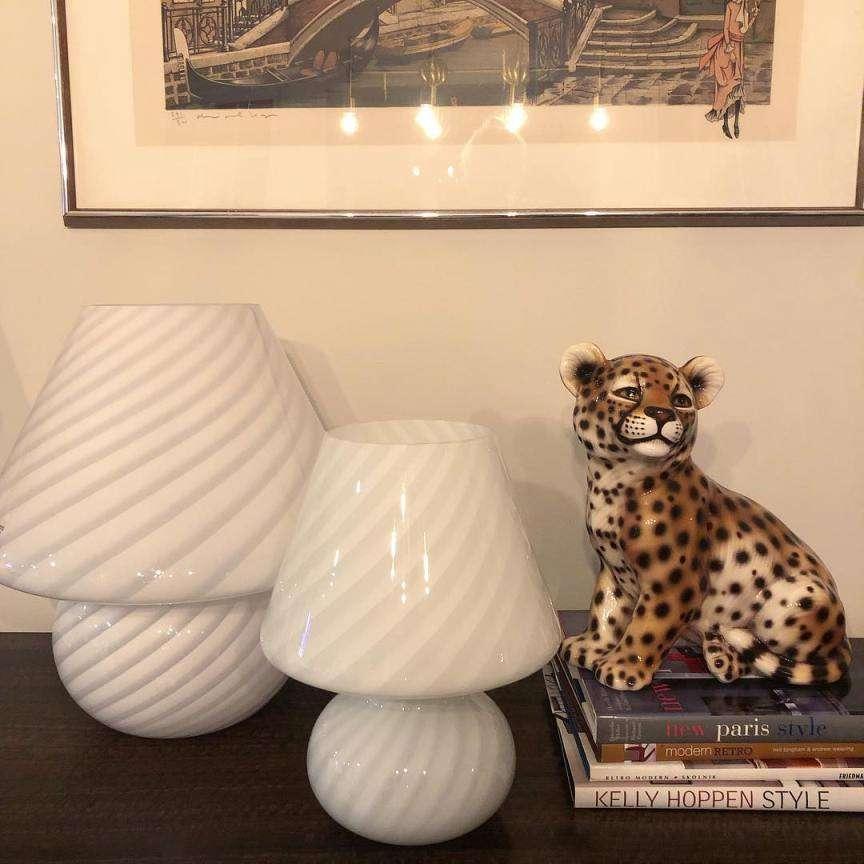 murano mushroom lamp
